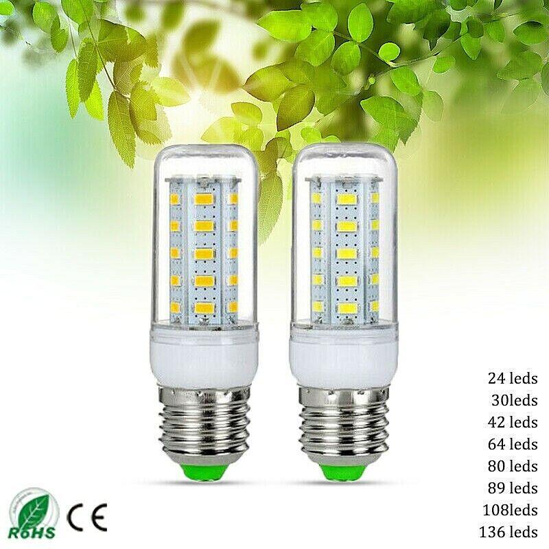 E27 E12 LED Corn Bulb 5730 SMD Cool White Lamp Light 7W9W15W20W35W  220V110V