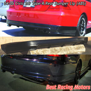 TR Style Rear Bumper Lip (ABS) Fits 04-05 Honda Civic 2dr