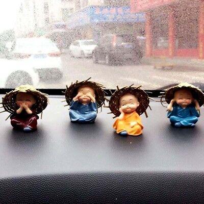 Cartoon 4PCS/set Monk Sets Car Interior Fashion Car Cute Doll Decor Accessorie