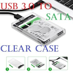 USB 3.0 to SATA Hard Drive Enclosure Caddy Case For 2.5
