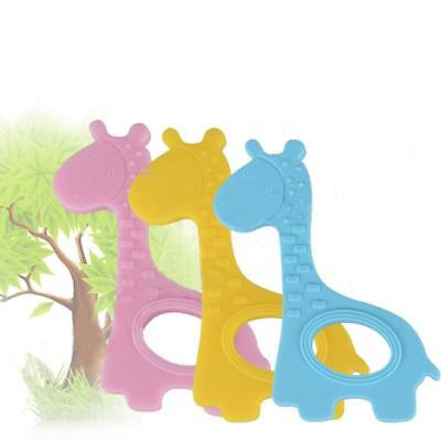 Silicone Baby Giraffe Teether Safe Pacifier Teething Chew Dummy Baby Toy Fun Q