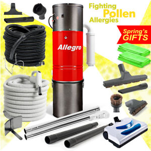 Allegro Central Vacuum Powerful Unit Electric Hose Powerhead Pkg