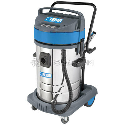 Industrial Wet And Dry Vacuum Cleaner 80l 230v With Accessories Fervi A040803