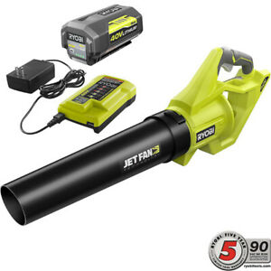 RYOBI 40V Jet Fan Blower Kit with 4AH Battery & Charger