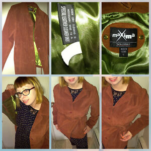Tan Suede Jacket Coat Leather