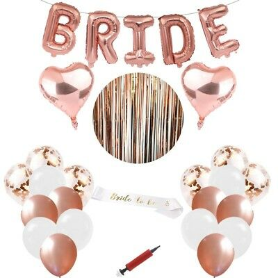 Bridal Shower / Bachelorette Party Decorations. Rose Gold Beautiful Full Set