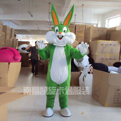 Bunny Mascot Costume Suit Cosplay Party Fancy Dress Outfit Xmas Adults Parade - Bunny Mascot Suit