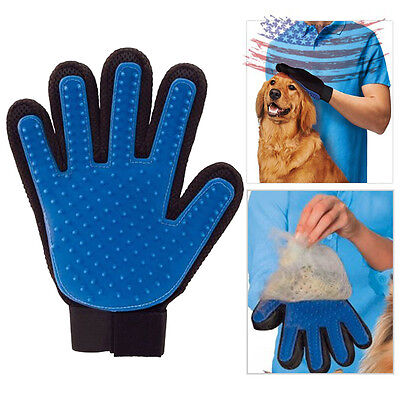 US NEW Magic Shedding Glove for Gentle and Efficient Pet Dog Cat Grooming Hair