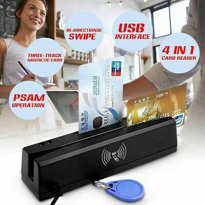 4-in-1 Magnetic Stripe Credit Card Emv Ic Chip Rfid Psam Reader Writer Yl160