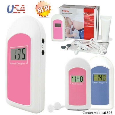 Usa Fda Baby Sound Fetal Doppler Prenatal Baby Heart Monitor Backlight Lcd Gel