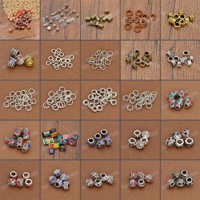 DIY Dread Dreadlock Fabric Wooden Bead Hair Braid Beads Cuff Clips Jewelry Decor