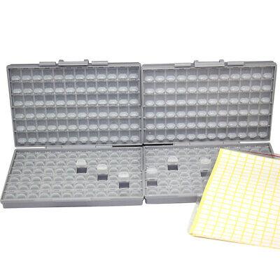 2pcs Aidetek Smd Resistor Capacitor Storage Box Organizer Lids Compartments Usa