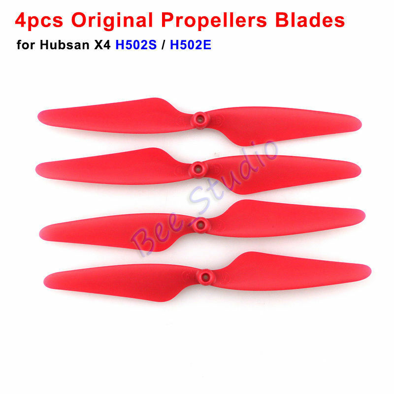 4pcs Original Red Propeller Blade For Hubsan X4 H502E H502S RC Drone Spare Parts