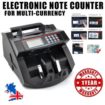 Bank Note Currency Counter Count Fake Detector Banknote Money Pound Cash Machine