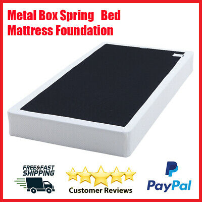 Box Spring Metal Bed Mattress Foundation Folding Twin Full Queen King Size Metal Folding Bed