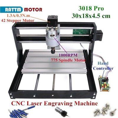 Cnc Mini 3018 Pro Desktop Cutter Engraver Diy Grbl Pcb Wood Router Laser Machine