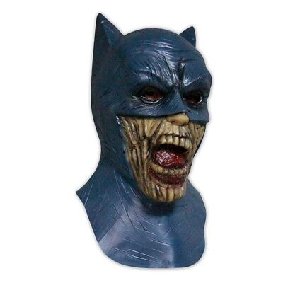 Horror Latex-Maske in Lebensmittelqualität Untoter Zombie Batman Halloween (Batman Halloween Maske)