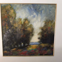 "2 x monotypes de N. Gregory ""Twilight"""