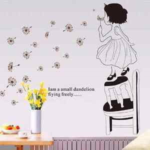Girl with dandelions  wall decal $10 (New)