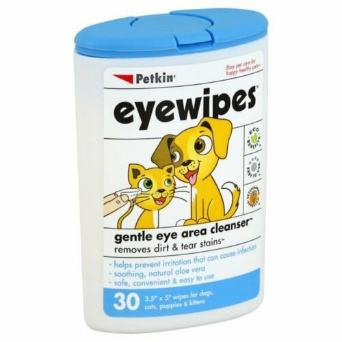 Petkin Eyewipes Eye Wipes for Dogs & Cats 30 wipes, new sealed