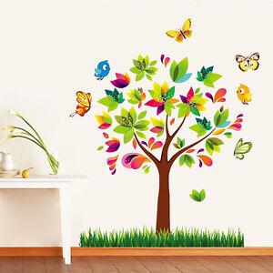 Wandtattoo Wandsticker Baum Schmetterlinge Kinderzimmer dekorative Neu !!!