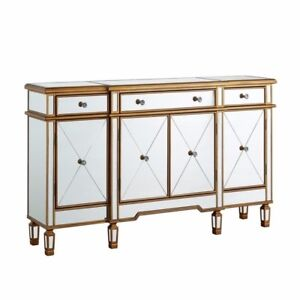 POWELL SERAPHINA GOLD AND MIRRORED CONSOLE