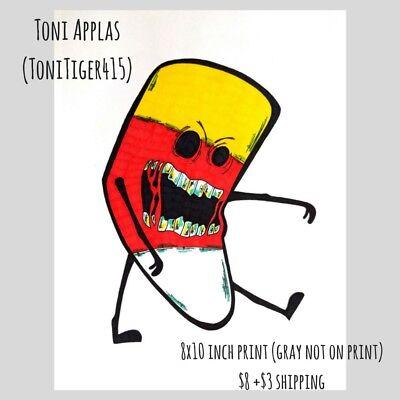 Candy Corn Art (Candy Corn Zombie, Zombie Art, 8x10 Inch Print, Original Horror)