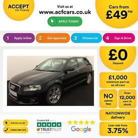 Audi A3 1.6TDI ( 105ps ) Sportback 2012MY S Line FROM £49 PER WEEK!