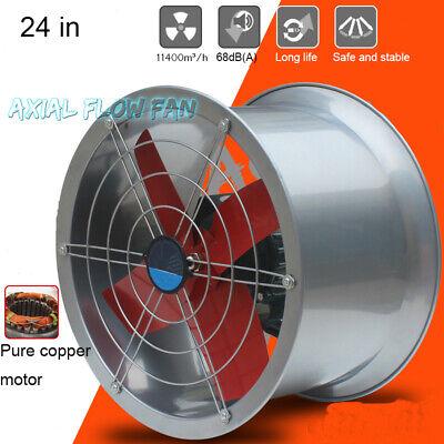 24 220v Industrial Exhaust Fan Cylinder Pipe Fan Wall Mounted Ventilator Draft