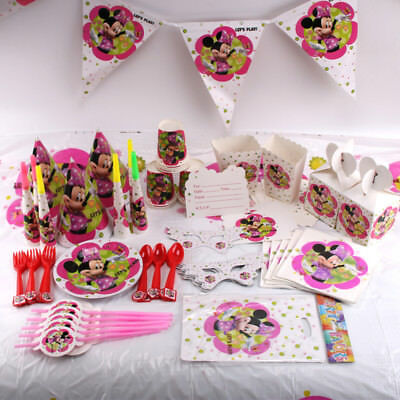 Minnie Mouse Birthday Party Supplies Favor Kids Tableware Decoration Plates Cup (Minnie Mouse Birthday Decorations)