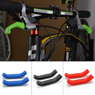 Brake Lever Grips - 1pair Mountain Bike Bicycle HandleBar Grip Brake Lever Silicone Cover Protector