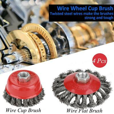 Wire Cup Brush Wheel 2 X 75mm Wire Cup Brush Angle Grinder Twist Knot