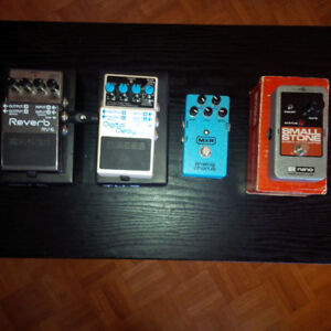 Effects pedals: Boss, EHX, Line6, MXR