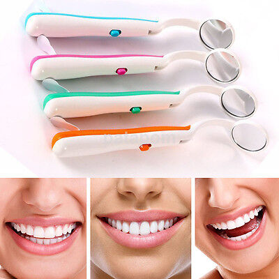 Hot Professional Dental Mouth Mirror With Led Lens Oral Instruments Authentic Us