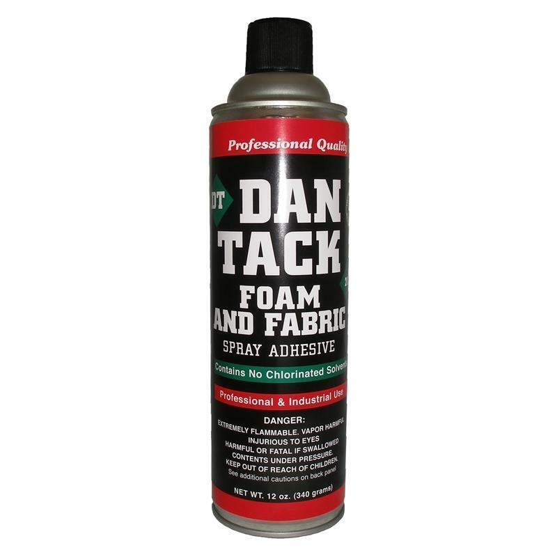 Dan Tack 2012 Professional Quality Foam & Fabric Glue Adhesive Spray 12 oz Can