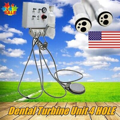 Dental Portable Turbine Unit Wall Mount Work W Air Compressor Triplex Syringe