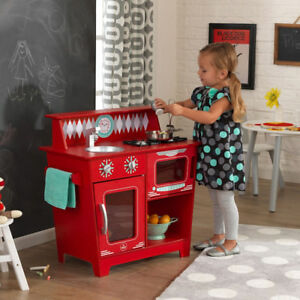 NEW: KidKraft Classic Kitchenette  (Red Color) - $80 NO TAX