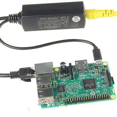 Nice PoE Splitter Power Over Ethernet 48V to 5V 2.4A Micro USB adapter GH