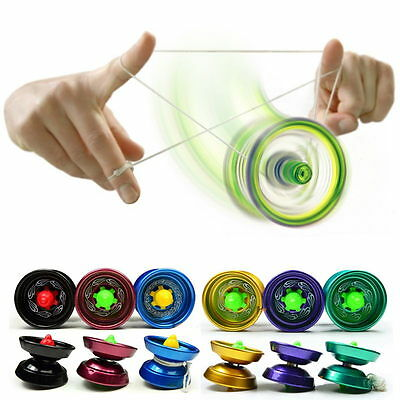 Cool Aluminum Design Professional YoYo Ball Bearing String Trick Alloy Kids New