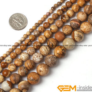 Natural-Picture-Jasper-Gemstone-Round-Beads-For-Jewelry-Making-15-034-4mm-6mm-8mm