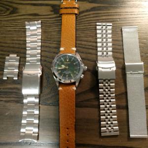 Seiko SARB017 Alpinist - Green dial with extra bracelets