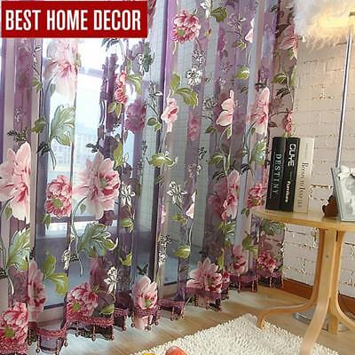 Best home decor drapes sheer window curtains for living room the bedroom