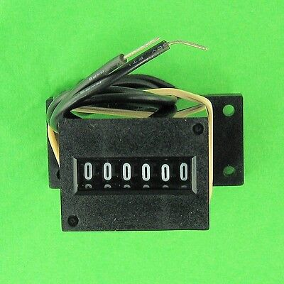 NEW Kessler-Ellis 12V DC 6 Digit Impulse Counter Mechanical Wire Leads Base VDC