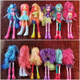 My little pony equestria girls dolls vgc x6 hasbro mlp pinkie apple vg