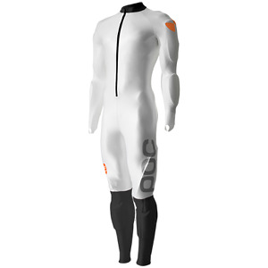 White POC Downhill suit with built in padding