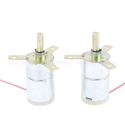 2pcs High Torque 12v Dc 25 Rpm Gear-box Stabilivolt Electric Motor Replacement