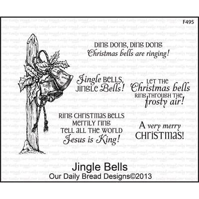 Jingle Bells Cling Stamp Collection Our Daily Bread New Christmas Holiday Art