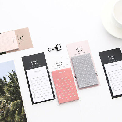 Cute To Do List Paper Weekly Plan Memo Pad Sticky Notes School Office Stationery