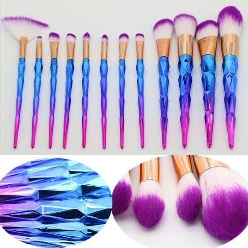 Купить S-Noilite 10 x Comestic Brushes - 12pcs Unicorn Mermaid Makeup Brushes Foundation Set Cosmetic Blush Face Powder