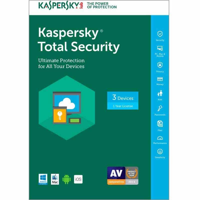 Kaspersky Lab Total Security 2017 - 3 Devices / 1 Year. K...